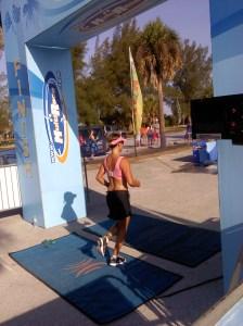speedie finishes her first triathlon