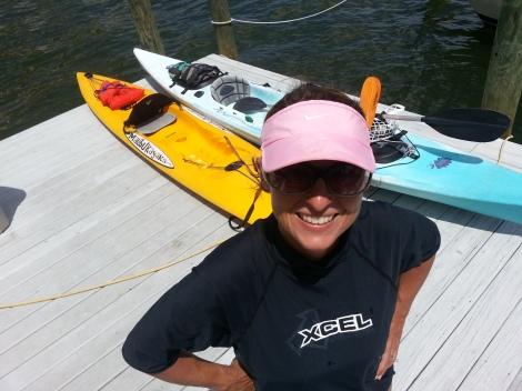Speedie & the kayaks
