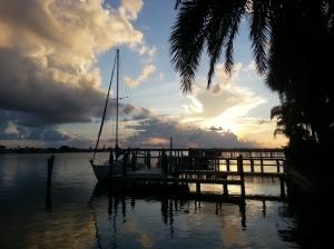 sunrise on the dock
