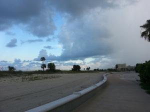 Treasure Island beach trail with impending rain