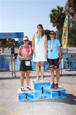 Andrea Speedie on the podium